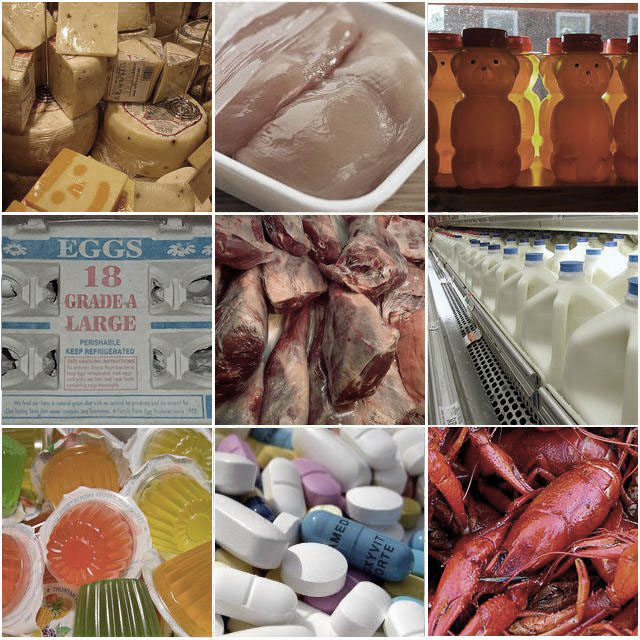 animal products, meat, dairy, eggs, poultry, seafood, gelatin, jello, pills, honey, cheese, vegan, vegetarian