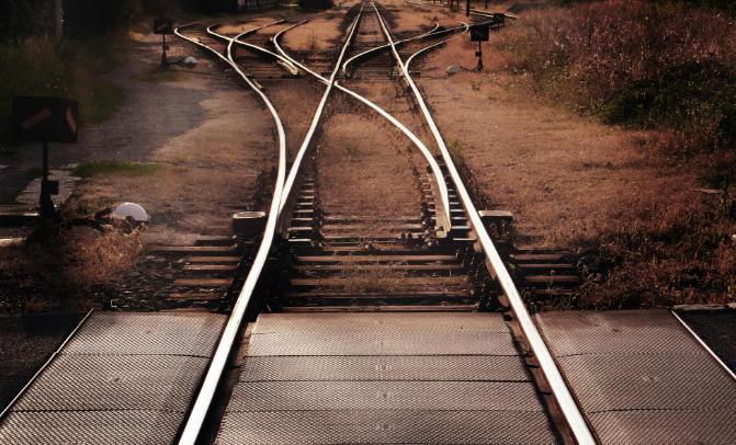railroad tracks, choice, decision, two paths