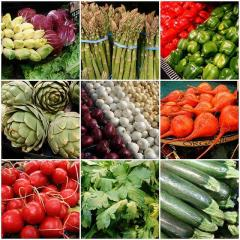 assorted vegetables chart