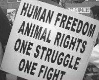 one struggle one fight human freedom animal rights
