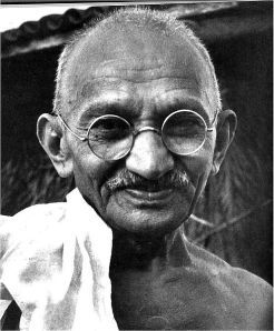 Many human and civil rights activists such as Mahatma Gandhi (pictured) have adopted vegetarian or vegan lifestyles because of their recognition of the connection between human suffering and animal suffering.  Others include Rosa Parks, Cesar Chavez, Coretta Scott King and Susan B. Anthony, among many others.