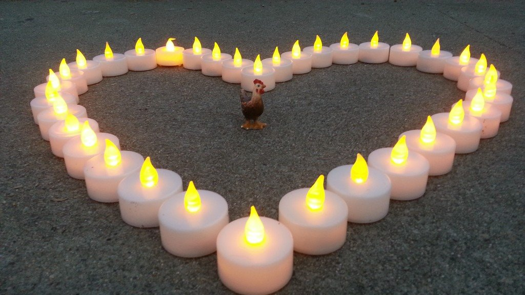 kapparot chicken heart candle vigil