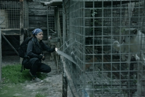 Jo-Anne on fur farm