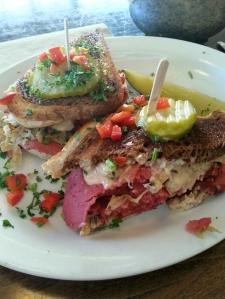 Vegan reuben sandwich (from Native Foods)