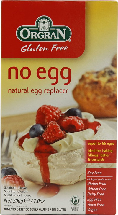 orgran, no egg, natural, egg replacer, eggless, egg-free, vegan, baking, vegan baking