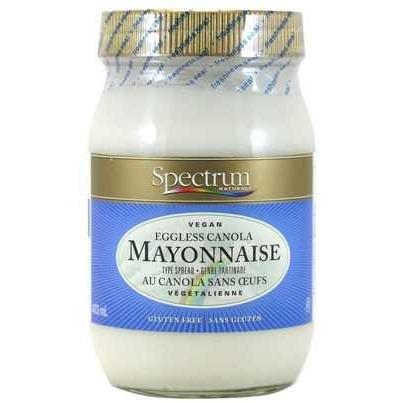 spectrum, eggless, mayo, mayonnaise, vegan, vegan mayo, egg-free, canola